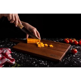Дъска с дръжка за рязане и сервиране орех 50 см