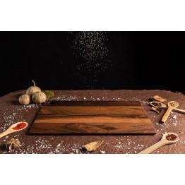Дъска за рязане и сервиране орех 38см.