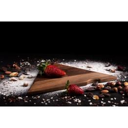 Дъска за рязане и сервиране Сиренце - орех, 22 см