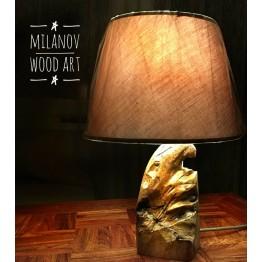 Нощна лампа масивен орех