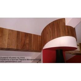 Дървена обшивка на стена